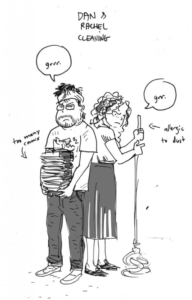 Dan and Rachel cleaning web